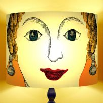 Ego - Illustrated Face Drum Lamp Shade